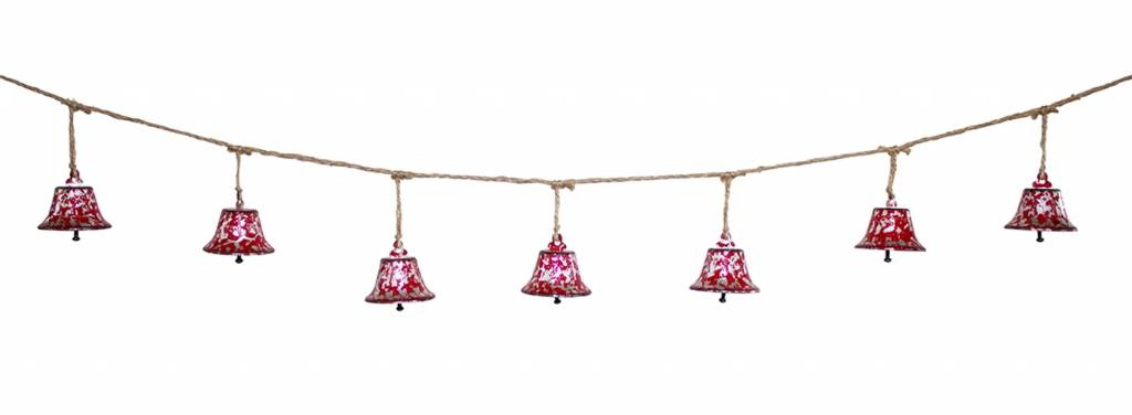 5-ft Red Bell Garland
