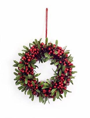 """14"""" Berry Leaf Wreath"""