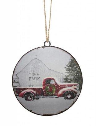 Vintage Truck Disk Ornament