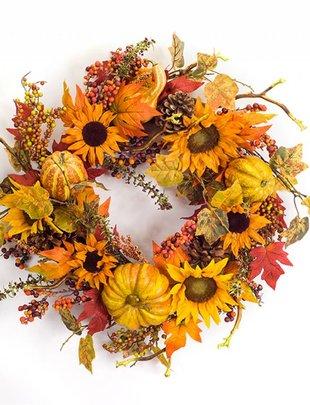 Sunflower Gourd Wreath