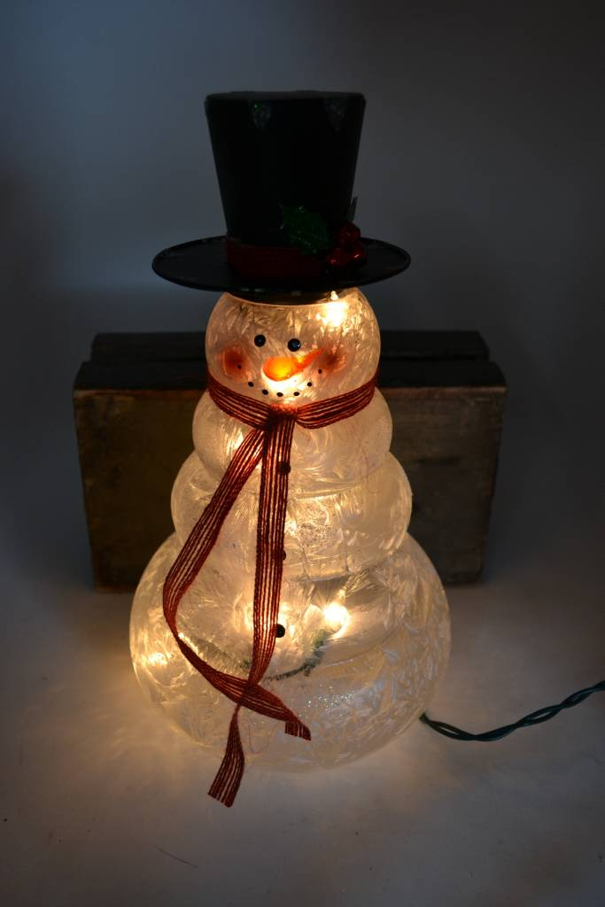 """12"""" Electric Lighted Tall Snowman"""