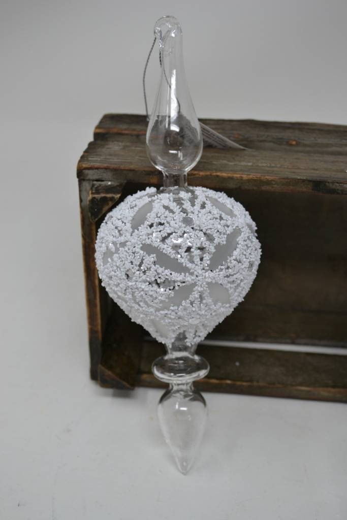 """9"""" Glass Finial Ornament (2 Styles)"""