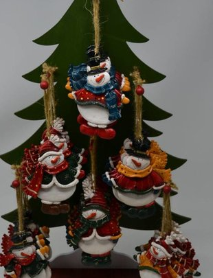 Resin Snowman Ornament (6 Styles)