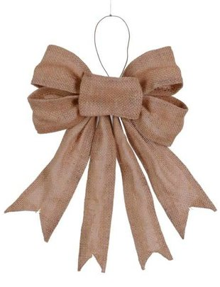 Tan Wired Burlap Bow