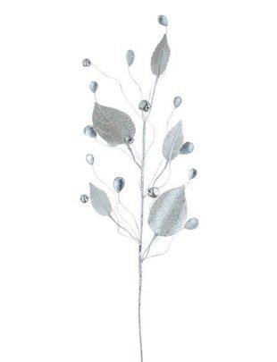 Silver Leaf & Gem Spray