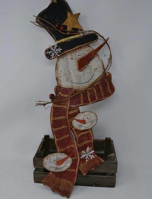 "21.5"" Jingle Wooden Snowman"