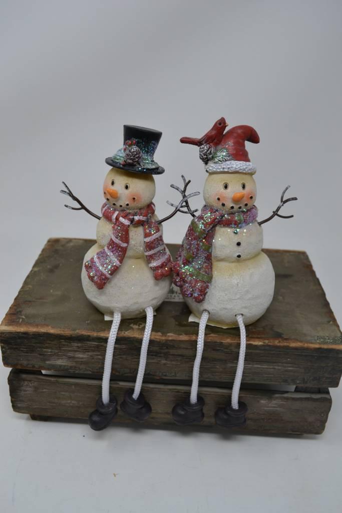 "4"" Snowman Shelf Sitter (2 Styles)"