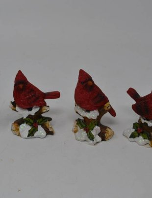Resin Cardinal On Branch (4 Styles)