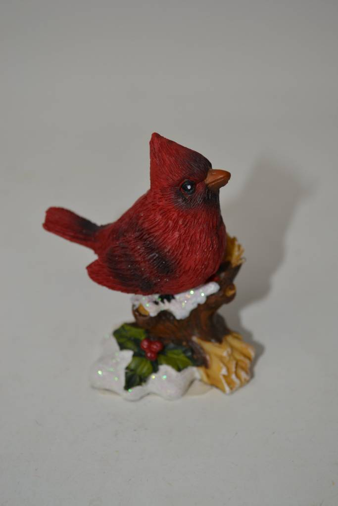 Resin Cardinal On Branch (4 Styles)