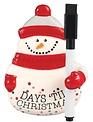 Days Till Christmas Snowman Countdown
