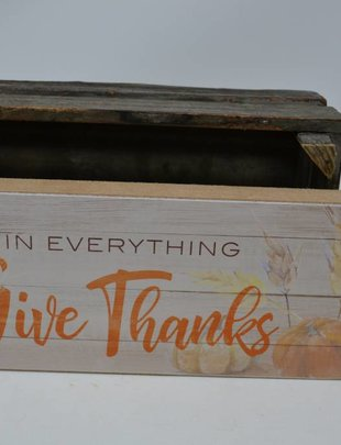 In Everything Give Thanks Block Sign