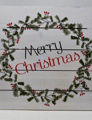 Merry Christmas Wooden Pallet Sign