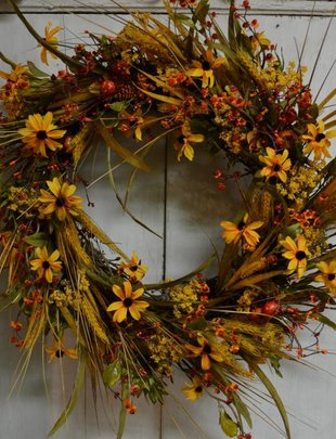 Golden Wheat Wreath