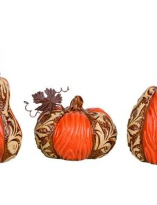 Ceramic Patterned Pumpkin (3 Styles)