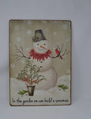 In The Garden Snowman Sign