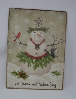 Let Heaven & Nature Sing Snowman Sign