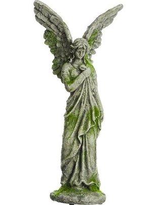 Moss Angel Garden Statue