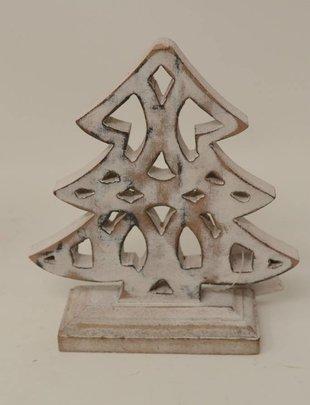 Standing Whitewashed Christmas Tree