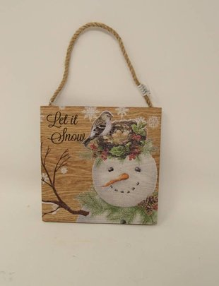 Small Garden Snowman Plaque (2 Styles)
