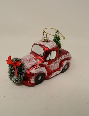Frosted Vintage Truck Ornament