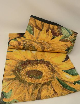 "Sunflower Tapestry Table Runner (13"" x 72"")"
