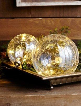 LED Iridescent Glass Ball