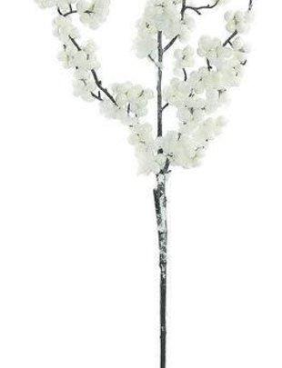 White Snowberry Branch Spray