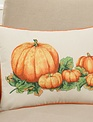 Down Filled Embroidered Pumpkin Patch Pillow