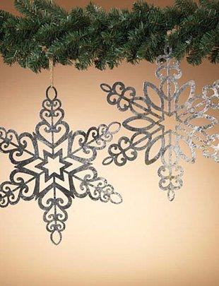 "18"" Hanging Metal Snowflake (2 Styles)"