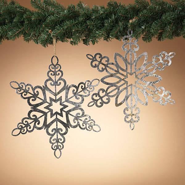 """18"""" Hanging Metal Snowflake"""