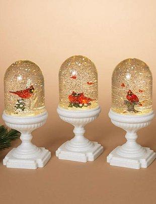 Musical Light Up Cardinal Snow Globe (3 Styles)