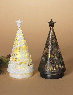 Spinning Christmas Tree Snow Globe Light (2 Colors)