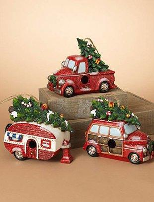 Holiday Vehicle Birdhouse (3 Styles)