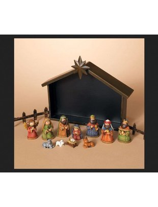 11 Piece Nativity Set w/ Metal Manger