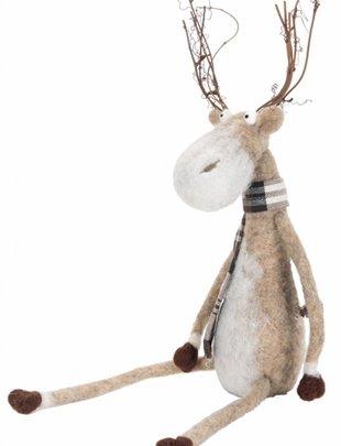 Wool Sitting Deer (2 Sizes)