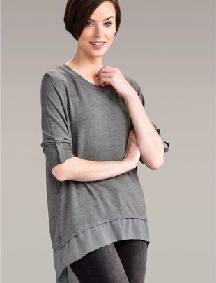 Button Sheer Tunic (2 Colors)
