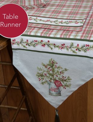 O Christmas Tree Plaid Table Runner