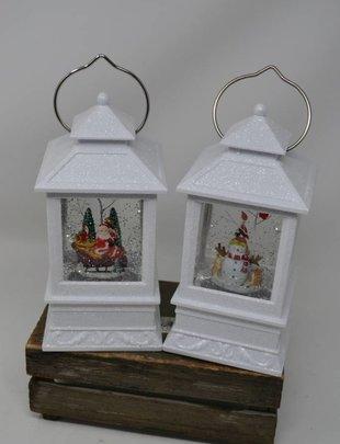 Small LED White Snow Globe Lantern (2 Styles)