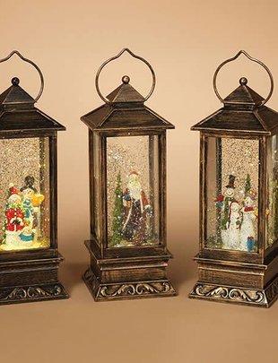 Bronze LED Musical Snow Globe Lantern (3 Styles)
