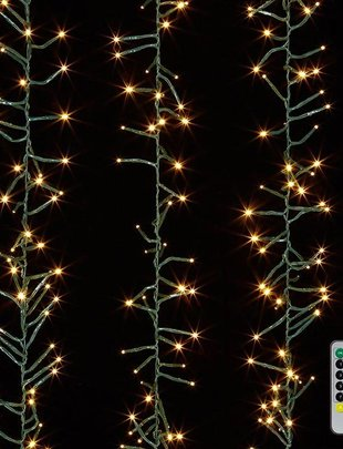 15-Ft. LED Battery-Operated Cluster Lights with Remote