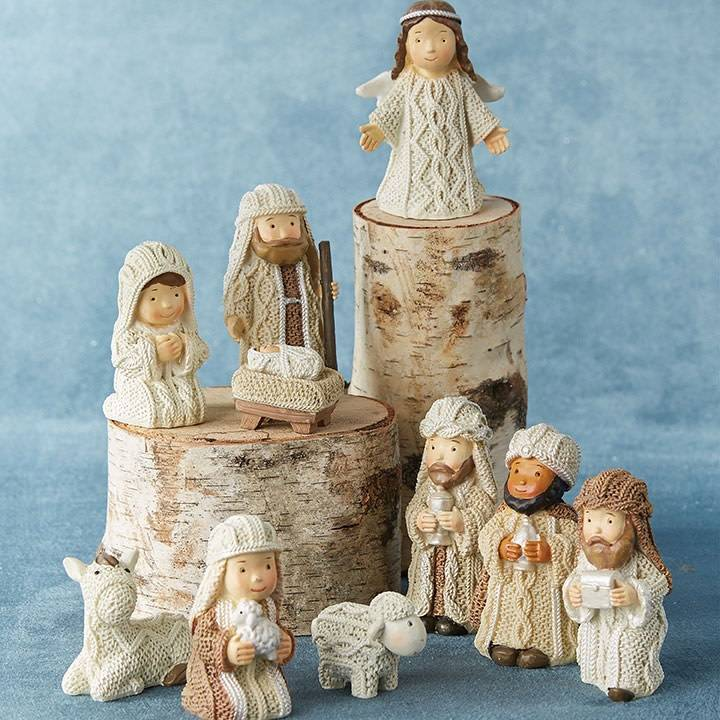 10 Piece Cable Knit Nativity