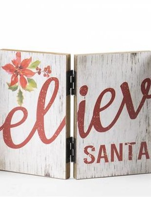 Hinged Holiday Sign (3 Styles)