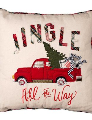 Jingle All The Way Truck Pillow