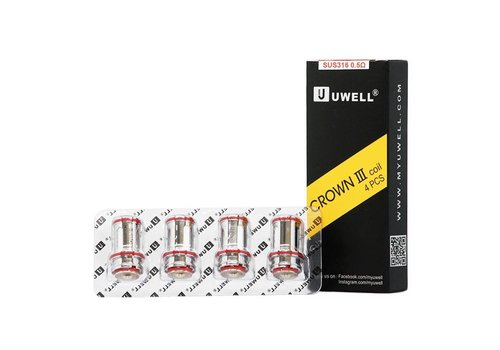 uwell Uwell Crown 3 Coil 0.5 ohm (4 pack)