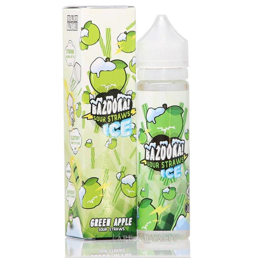 Bazooka Sour Straws Ice - Green Apple - 60ml /