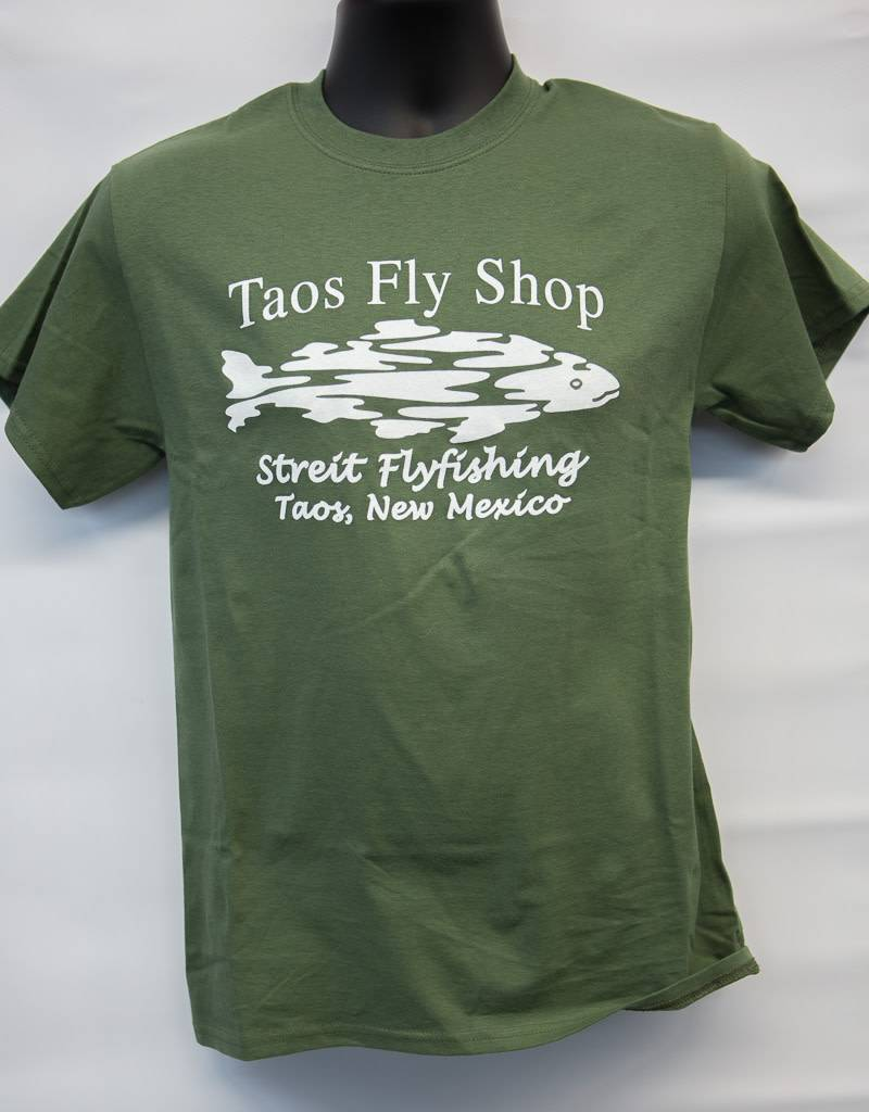 Taos Fly Shop Logo (front) Tee