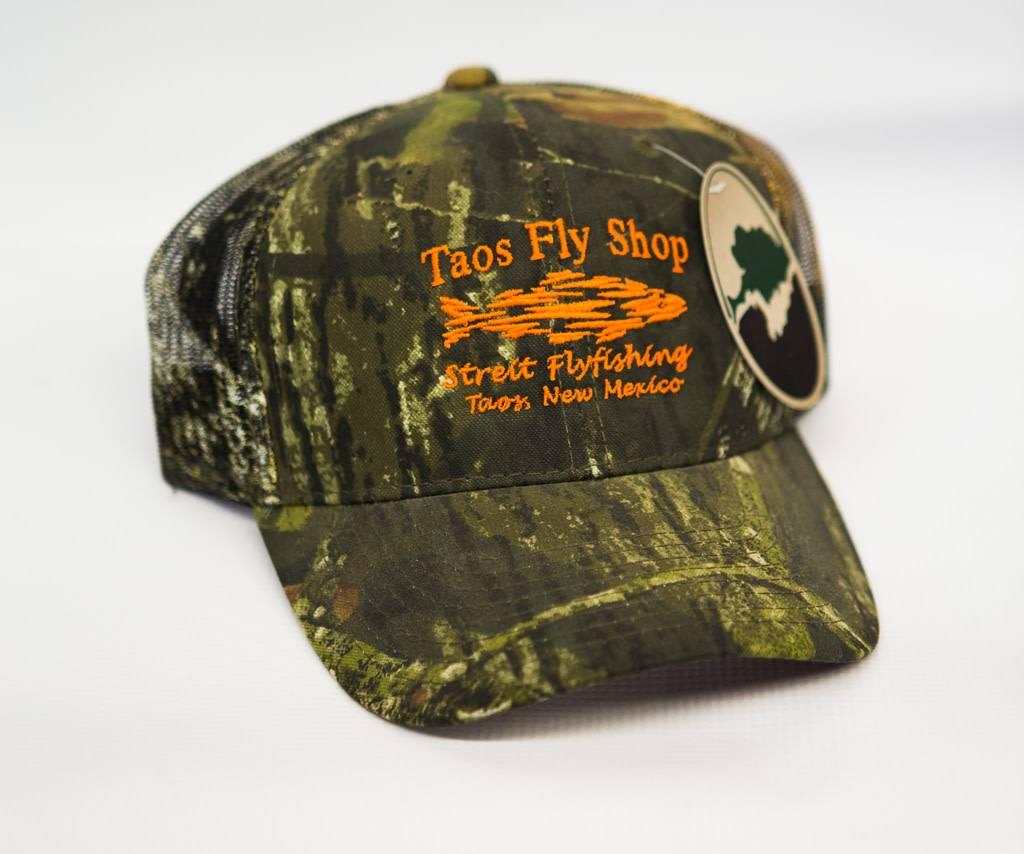 Taos Fly Shop Shadow Fish Logo Trucker Hat
