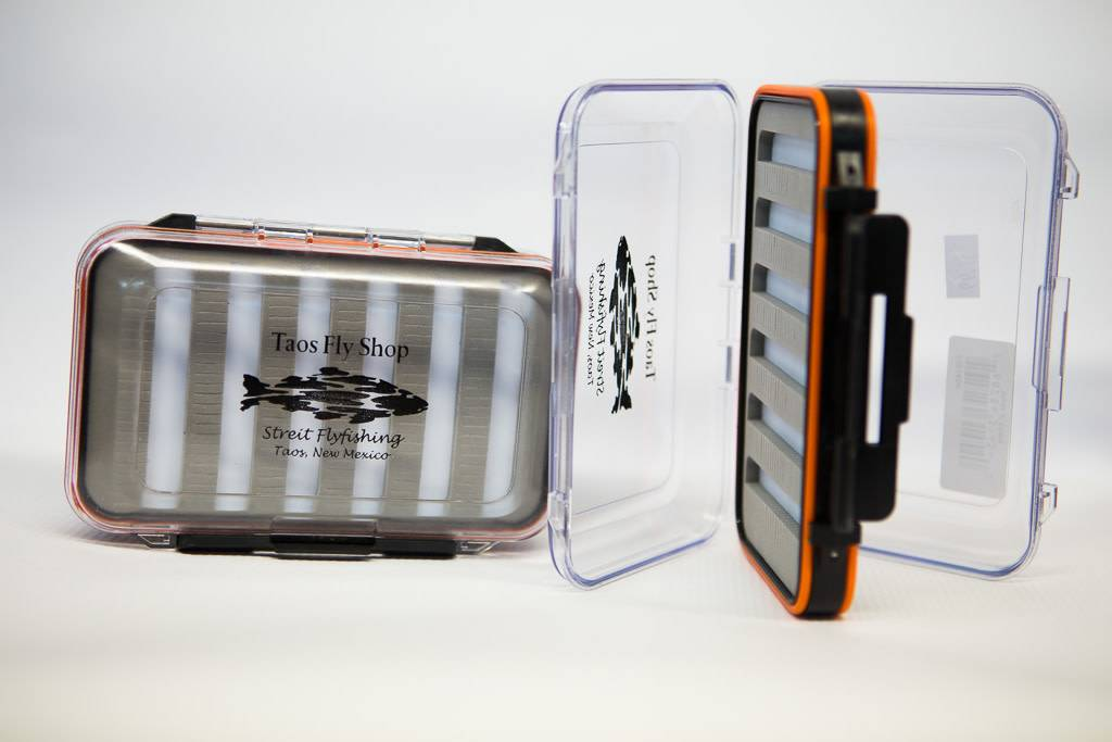 New Phase Orange Large Waterproof Taos Fly Shop Fly Box