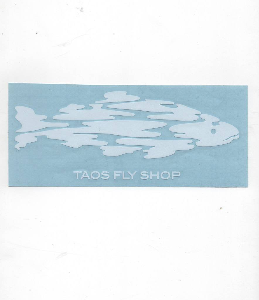Taos Fly Shop Taos Fly Shop Decal Sticker White