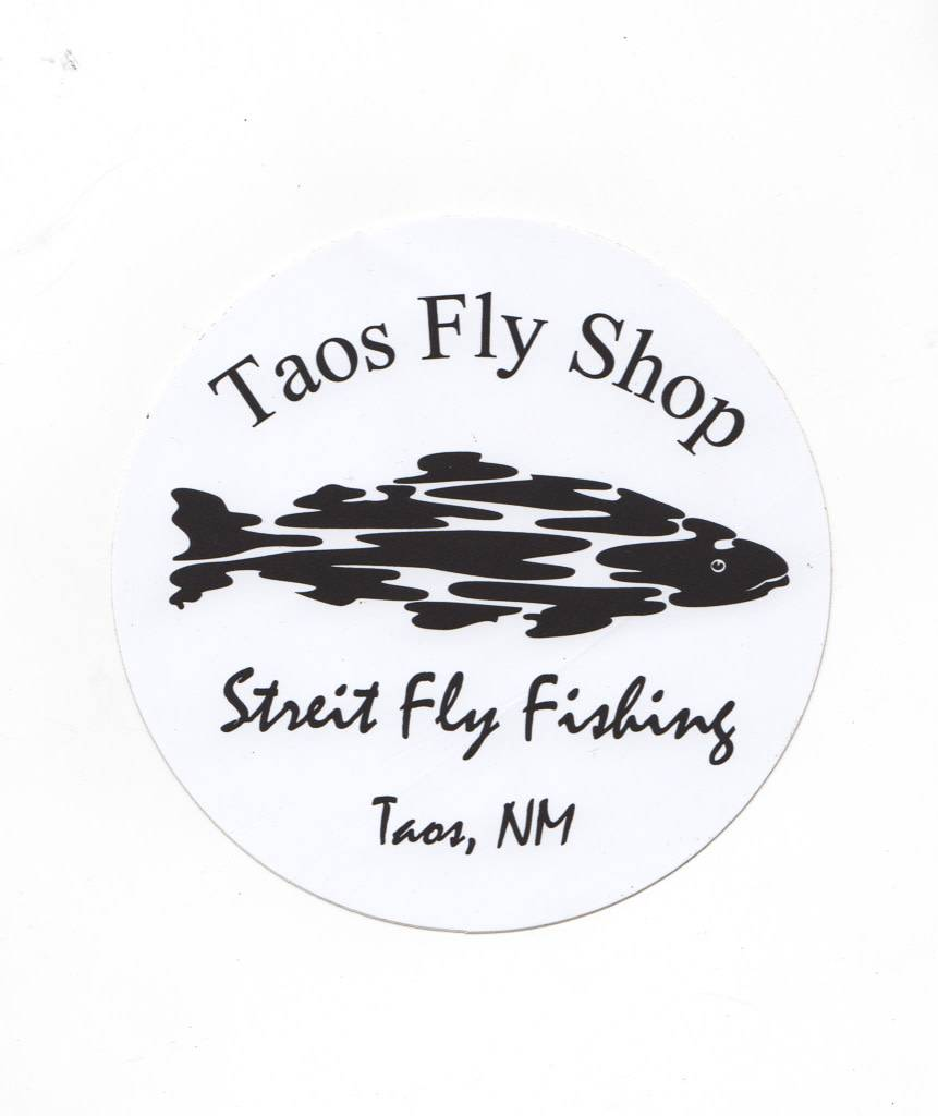 Round Taos Fly Shop Sticker